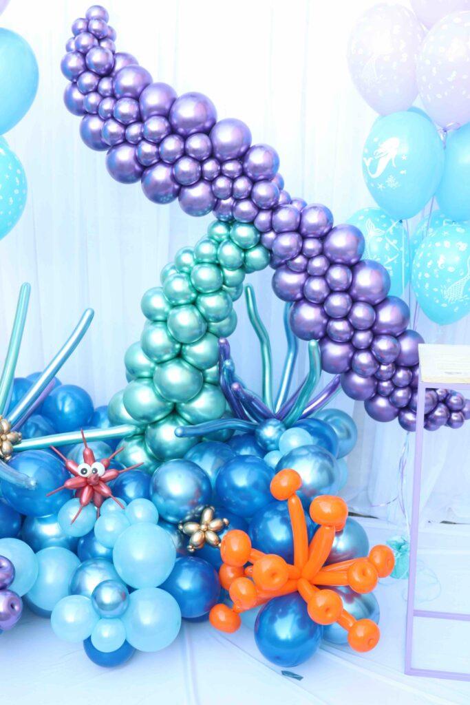 Decoração fundo do mar para festa de 15 anos