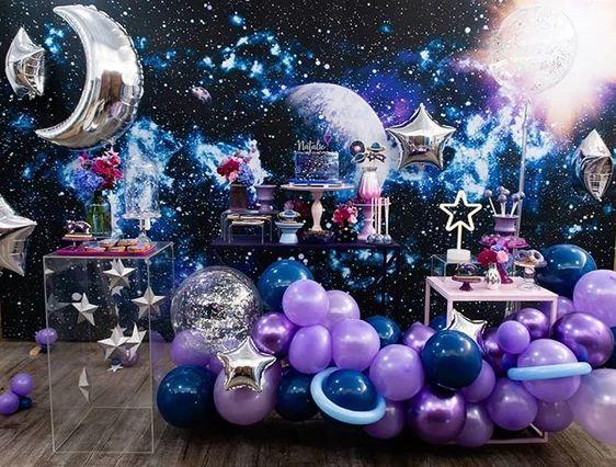 Tema galáxia para festa de 15 anos