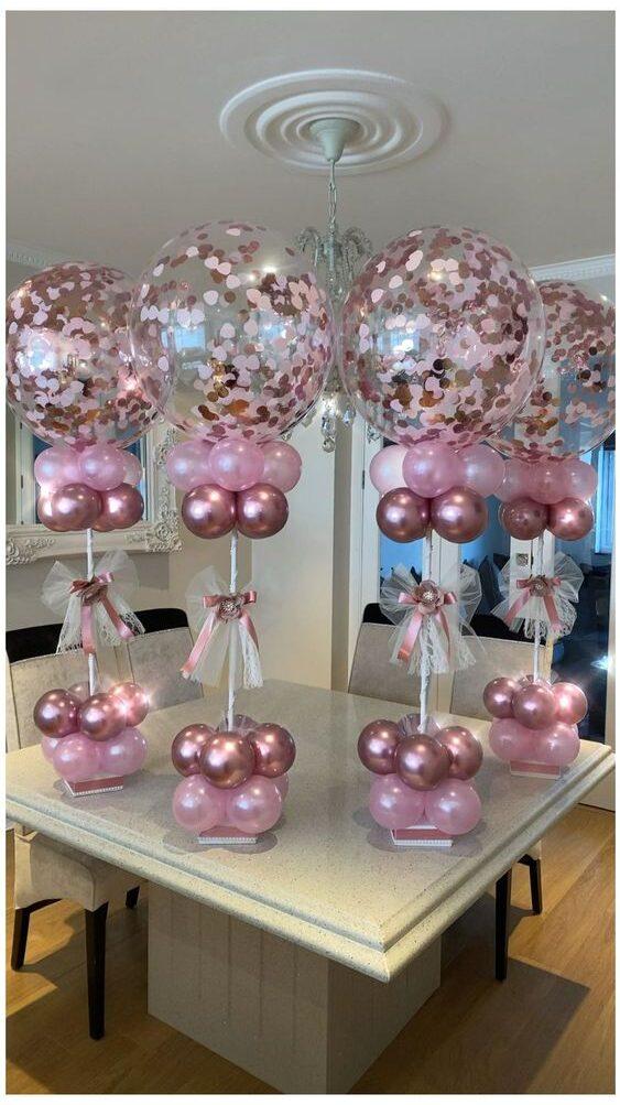 Centro de mesa com balões 2