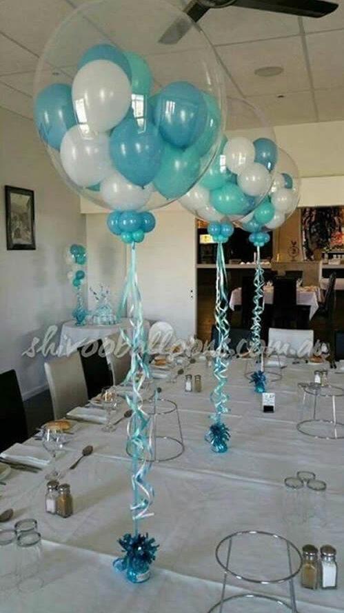 Centro de mesa com balões 3